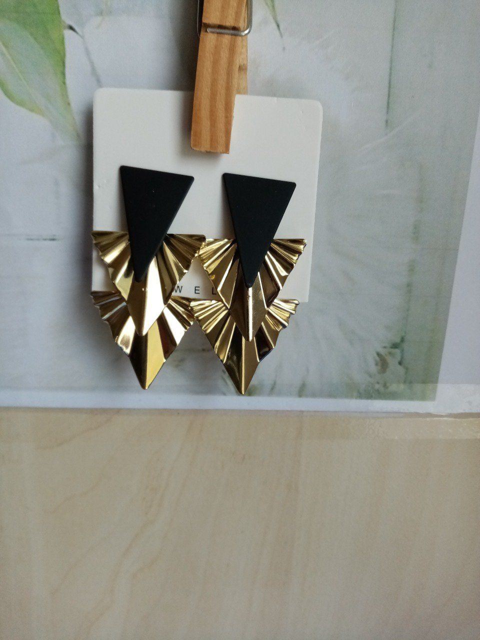 Boucle d oreille triangle